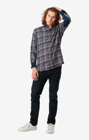 Boomerang - CHUCK FLANEL SHIRT - Midnight blue
