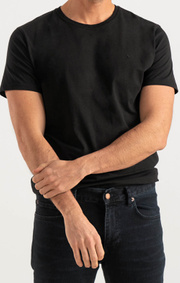 Boomerang - BASIC O-NECK ORGANIC COTTON T-SHIRT - Black