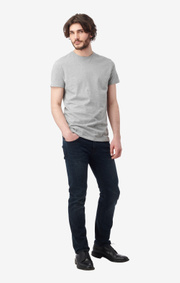 Boomerang - BASIC O-NECK ORGANIC COTTON T-SHIRT - Lt grey melange