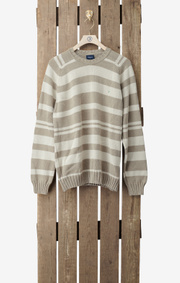 Boomerang - Tillverkad i Sverige- Striped sweater - Putty