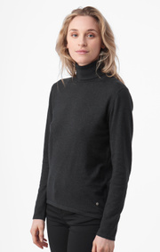 Boomerang - EDIT POLO SWEATER - Dk grey mela