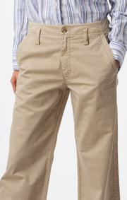 Boomerang - Frida cropped trousers - Khaki beige
