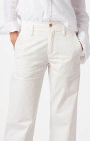 Boomerang - FRIDA CROPPED TROUSERS - Offwhite
