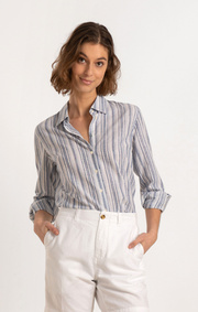 Boomerang - AINA STRIPED SHIRT - Electric blue