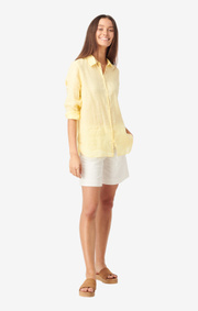 Boomerang - Lina linen shirt - Soft sunshine