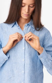 Boomerang - LINA LINEN SHIRT - Light indigo