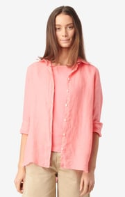 Boomerang - LINA LINEN SHIRT - Wild Strawberry