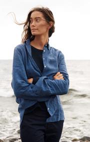 Boomerang - Lina linen shirt - Dark Indigo