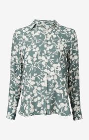 Boomerang - Meja printed shirt - Venetian green