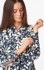Boomerang - Meja printed shirt - Midnight blue