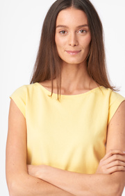 Boomerang - Frejus solid piqué top - Soft sunshine