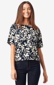 Boomerang - Julia jeresy top - Midnight blue