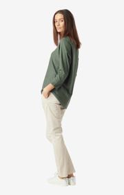 Boomerang - Planta sweater  - Venetian green