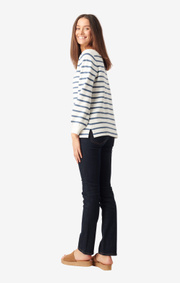 Boomerang - Melissa stripe org cotton sweater - Offwhite