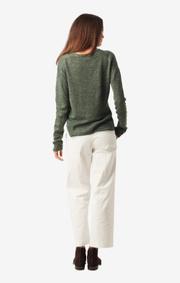Boomerang - Lilja linen sweater - Venetian green
