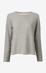 Boomerang - VILJA STRIPED LINNEN SHIRT - Dark putty