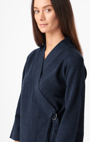 Boomerang - Doris wrap cardigan - Midnight blue