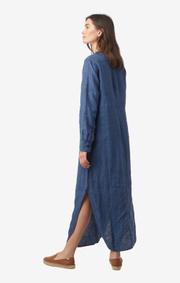 Boomerang - Båstad linen dress  - Dark Indigo