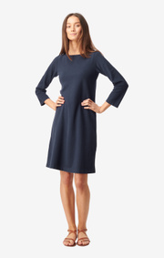 Boomerang - Blenda pique dress - Midnight blue