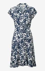 Boomerang - Sabina printed dress - Midnight blue