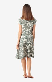 Boomerang - Sabina printed dress - Venetian green
