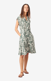 Boomerang - Sabina printed dress - Venetian green