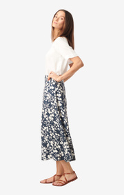 Boomerang - Maja printed skirt - Midnight blue