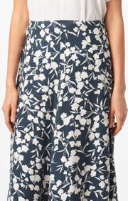 Boomerang - Maja printed skirt - Midnight blue