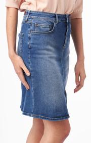 Boomerang - Signe denim skirt - Vintage indigo