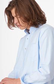 Boomerang - Nils organic oxford tailored - Ice blue