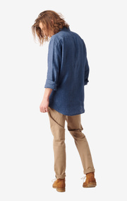 Boomerang - LINUS LINEN SHIRT - Light indigo