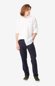 Boomerang - Linus Linen Shirt Tailored Fit - White