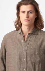 Boomerang - Linus Linen Shirt Tailored Fit - Taupe