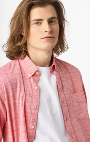 Boomerang - Wilmer flamé shirt tailored fit - Lipstick red