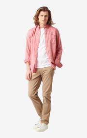 Boomerang - Wilmer flamé tailored shirt - Lipstick red