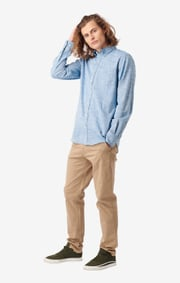 Boomerang - Wilmer flamé shirt tailored fit - Electric blue