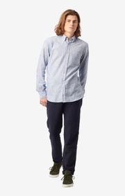 Boomerang - Charlie striped tailored fit shirt - Electric blue