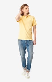 Boomerang - JOE ORGANIC COTTON POLO PIQUÉ - Soft sunshine