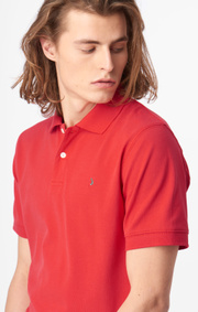 Boomerang - Joe organic cotton polo piqué - Lipstick red