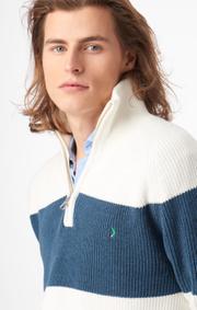 Boomerang - Sixten half zip sweater - Offwhite