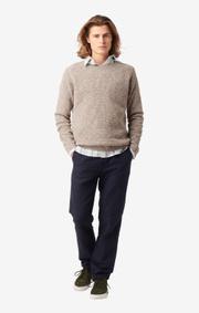 Boomerang - Henry o-neck sweater - Acorn brown