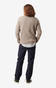 Boomerang - Henry o-neck sweater - Acorn brown