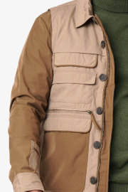 Boomerang - William pocket jacket med avtagbara ärmar - Beige