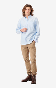 Boomerang - Nils solid shirt tailored fit - Ice blue