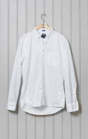 Boomerang - NILS SOLID OXFORD SHIRT TAILORED FIT - White