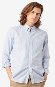 Boomerang - Nils stripe shirt tailored fit - Ice blue