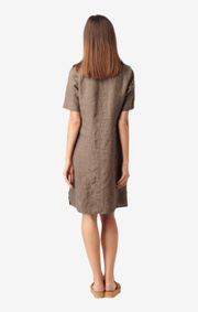 Boomerang - BETTAN LINEN DRESS - Taupe