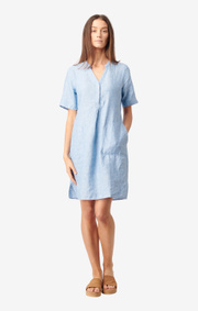 Boomerang - BETTAN LINEN DRESS - Light indigo