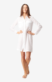 Boomerang - BRODERI ANGLAIS DRESS - White