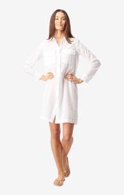 Boomerang - BRODERI ANGLAIS DRESS - White